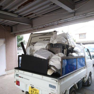 軽トラックでの粗大ゴミ回収